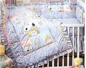 RARE! Peanuts My Little BABY SNOOPY - Lambs & Ivy Nursery Crib SET