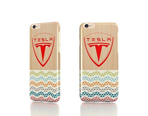 "Apple Iphone 6 4.7"" Case - The Best 3D Full Wrap Iphone Case - Tesla Motors Logo Electric Cars Wood Wood Chevron"