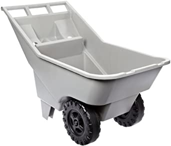 Rubbermaid Commercial FG370712907 3.25-Cubic Foot Roughneck Lawn Cart Pallet, Platinum