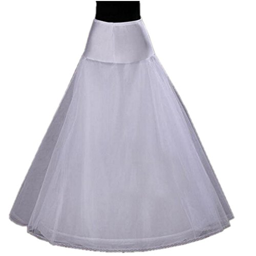 Joanna Women's A-line 2 Layers Long Petticoat