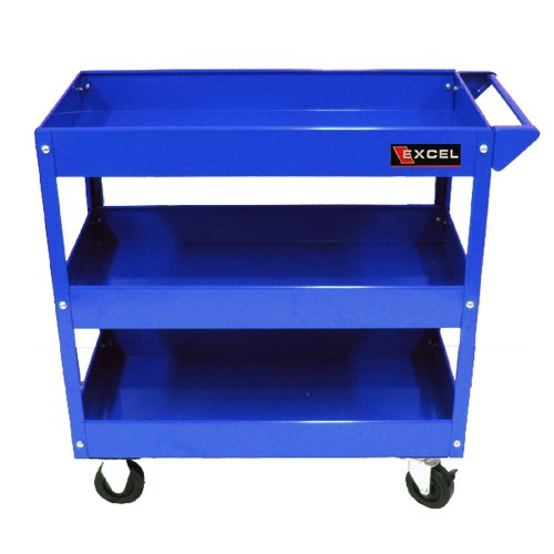Excel TC301A-Blue 29-Inch Steel Tool Cart, Blue