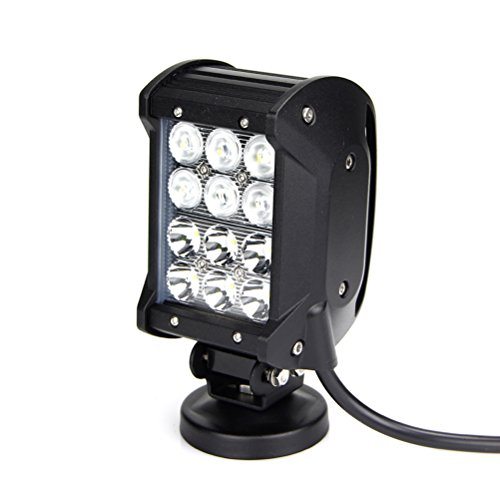 2Pcs 4Inch 36W Cree 4 Rows Led Work Bar 3240Lm Spot Flood Light 4X4 Offroad Lamp