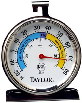 Favor Taylor Precision Products 5924 Refrigerator/Freezer Thermometer, Dial, Round, 3-In. - Quantity 6 Thermometers, Refrigerator - Freezer dispense
