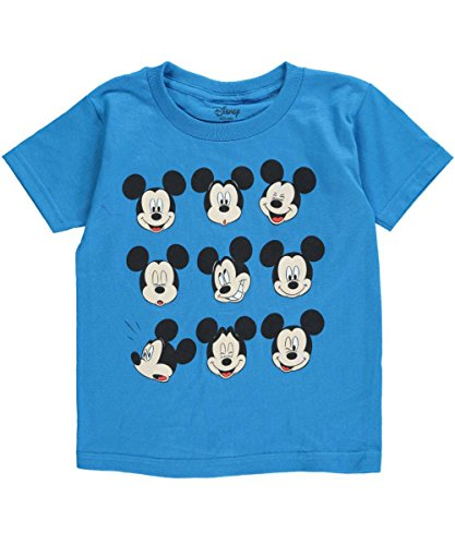 "Mickey Mouse Little Boys' Toddler ""Many Faces of Mickey"" T-Shirt"