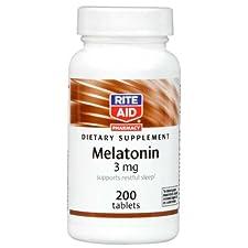 Rite Aid Melatonin, 3 mg, 200 Tablets