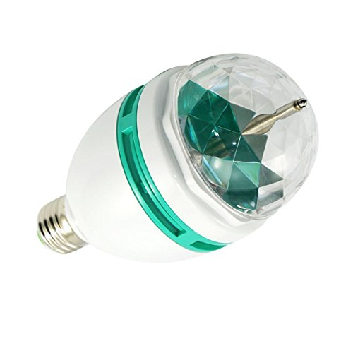 Generic Rgb Crystal Rotating Led Light For Stage Disco Dj Party Ball Bulb Multi Color Changing