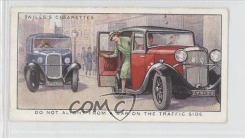 Do Not Alight From a Car on the Traffic Side (Trading Card) 1934 Wills Safety First #31