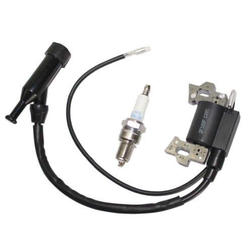 New Pack Of Ignition Coil + Spark Plug For Honda Gx110 Gx120 Gx140 Gx160 Gx200 5.5Hp 6.5Hp Generator Lawn Mover