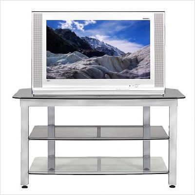 Cheap Bundle-41 MG Silver 44″ TV Stand with Optional Trim Kit (2 Pieces) (B006RJXEB0)