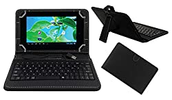 ACM PREMIUM USB KEYBOARD TABLET CASE HOLDER COVER FOR BASLATE 7DCH With Free MICRO USB OTG - BLACK