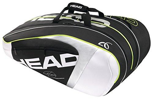 HEAD Schlägertasche Djokovic 12R Monstercombi, Schwarz, 79 x 44 x 34 cm, 55 Liter, 283085