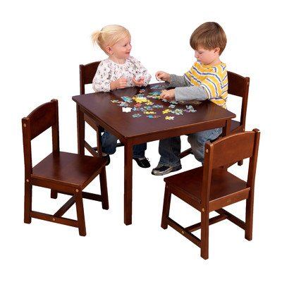 Buy Bargain KidKraft Farmhouse Table and Chair Set Pecan