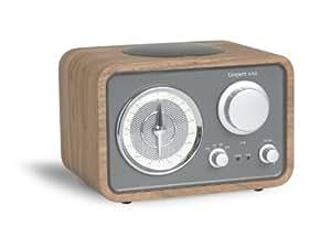 Tangent Uno Transistorradio (UKW-/MW-Tuner, AUX-Eingang, Lautsprecherausgang, Kopfhörer-Ausgang, Spritzwassergeschützt) walnuß