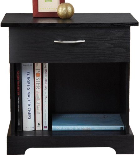 Enitial Lab Penn 1-Drawer Nightstand, Black front-806800