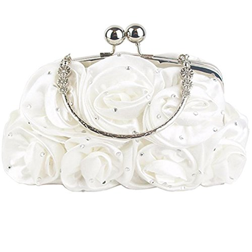 Zarla New Floral Ladies Clutch Bag Women Evening Party Prom Bridal Diamante Baguette