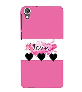 Vizagbeats love hearts Back Case Cover for HTC Desire 820