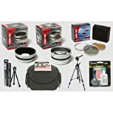 Canon PowerShot A590 A570 IS Digital Camera HD² Professional Accessory Kit