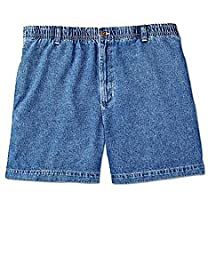 Harbor Bay Big & Tall Elastic-Waist Denim Shorts