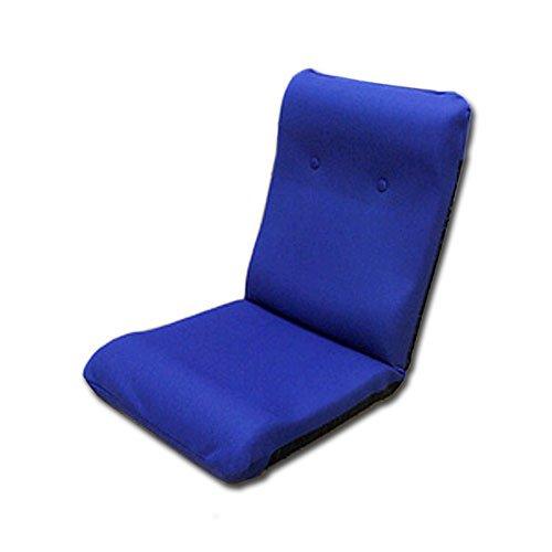 国産 ハイバック座椅子 ネイビーブルー