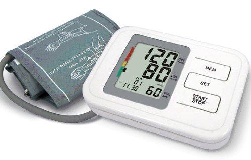 Tensiomètre automatique pour avant-bras avec 60x de mémoire, fonctionnalité de rythme cardiaque irrégulier, date, heure - comprend le brassard pour adulte, les batteries et le mode d'emploi