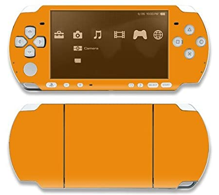 Simply Orange Decorative Protector Skin Decal Sticker for Sony Playstation PSP Slim / PSP 3000