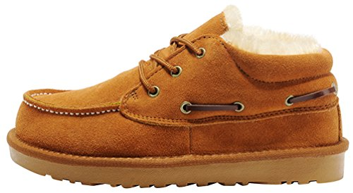 Rock Me Men's Thicker Wool Ankle Lace Up Snow Boots Baken II(8 D(M) US, Chestnut)