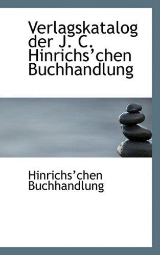 Verlagskatalog Der J. C. Hinrichsa Chen Buchhandlung