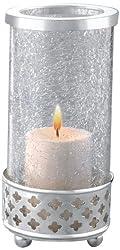 Borosil Sparkle Tea Light, 8.2cm, Silver