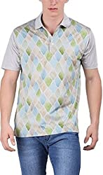 EURO OPEN Men's Polyester Tshirt (EEPTS15FS106-GH-XL)