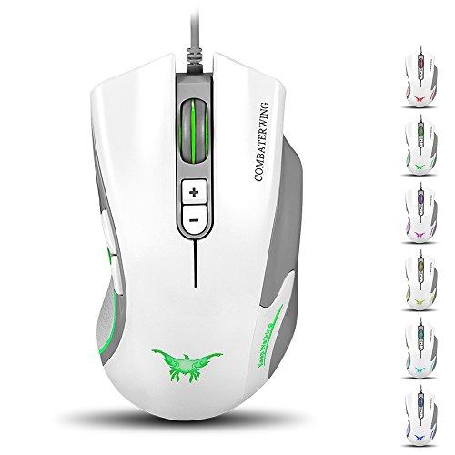 Bengoo ゲーミングマウス マウス 有線 ゲームマウス 光学式マウス ledライト付け 6段DPI自由に調整可能 Windows 98/ 2000/ XP/ Win 7/ Win 8/ Win 10/ Mac OS対応でき 人体工学デザイン
