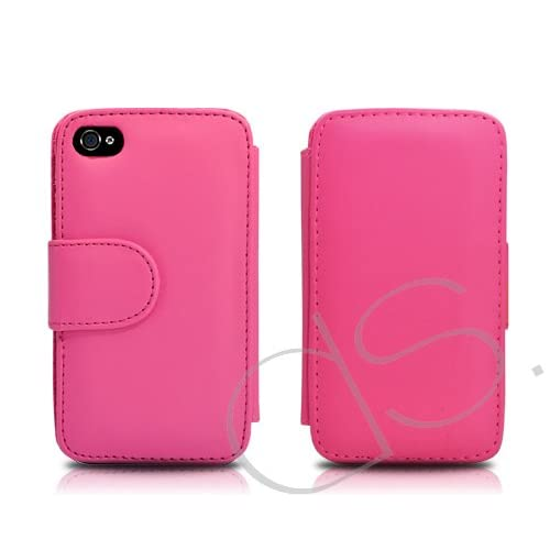 Esecutivo Series iPhone 4 and 4S Leather Flip Case   Pink