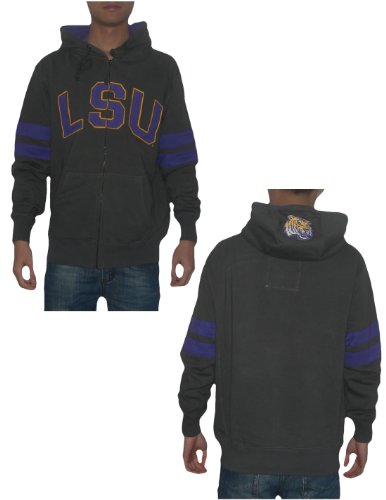NCAA LSU Tigers Mens Warm Athletic Zip-Up Hoodie Sweatshirt Jacket Small Grey at Amazon.com