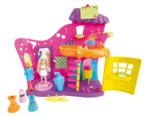 mattel x  polly	pocket salon fashion