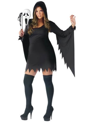 Ghost Face Female Plus Size Adult Womens Costume
