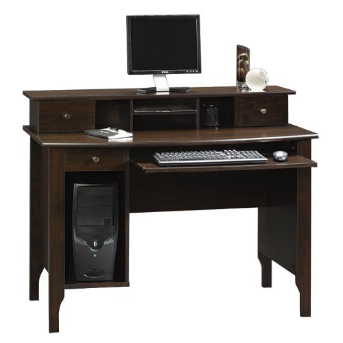 Dark Alder Computer Desk Workstation
