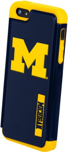 Great Sale Forever Collectibles NCAA Michigan Wolverines Dual Hybrid Hard Apple iPhone 5 / 5S Case
