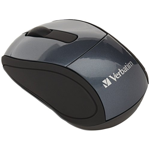 Verbatim Wireless Graphite Mini Optical Travel Mouse with Nano Receiver (97470)