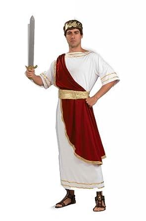 Amazon.com: Forum Caesar Emperor Of Rome Costume, Red/White, Standard