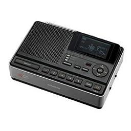 Sangean CL-100 Portable Clock Radio. S.A.M.E. WEATHR ALRT TABLE TOP RADIO RAD-CD. 2 x Alarm - FM, AM