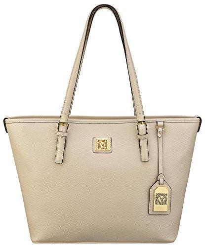 Anne Klein Perfect Medium Tote  Handbag, Vanilla Bean, One Size