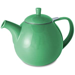 FORLIFE Curve Teapot with Infuser, 45-Ounce, Ivy by FORLIFE