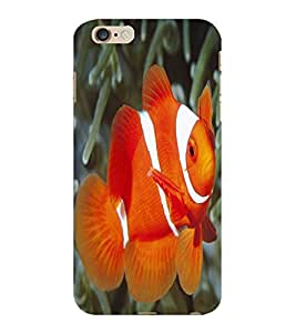 ColourCraft Gold Fish Design Back Case Cover for APPLE IPHONE 6 PLUS