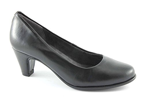 AEROSOLES REDHOT black scarpe donna decolletè tacco pelle comfort