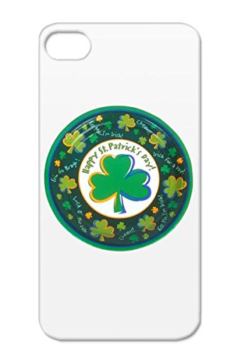 Black Tear-Resistant Religious Holiday Irish Patron Saints Of Ireland Ireland Festival Patrick Saunt Pethericks Day Holidays Occasions St. Patrick'S Irish Protestant The Knights St Saint Patricks L Fhile Pdraig Protective Hard Case For Iphone 4 Tpu Happy front-933660