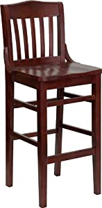 Flash Furniture XU-DG-W0006BAR-MAH-GG Hercules Series Mahogany Finished School House Back... by Flash Furniture