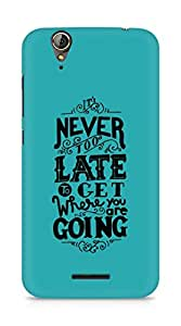 AMEZ never to late to reach where you are going Back Cover For Acer Z630S