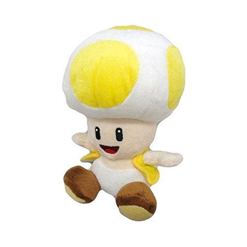 "Nintendo Official Super Mario Toad Plush, 6"", Yellow"