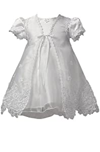 KID Collection White Infant Christening Baptism Dress Size Xl