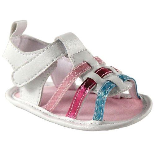 Toddler Girl White Sandals front-1058884