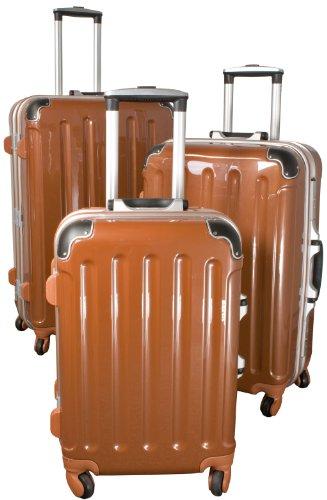 Polycarbonat-ABS-Kofferset Dublin 3tlg braun